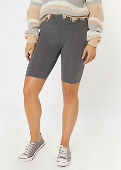 Heather Gray Essential Bike Shorts