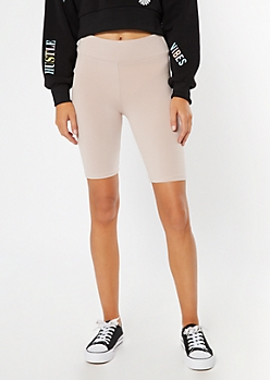 Taupe Essential Bike Shorts