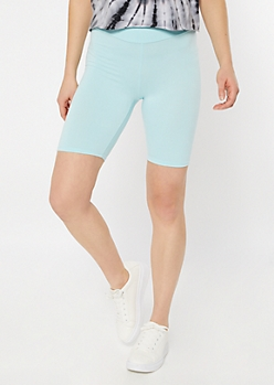Blue Super Soft Bike Shorts