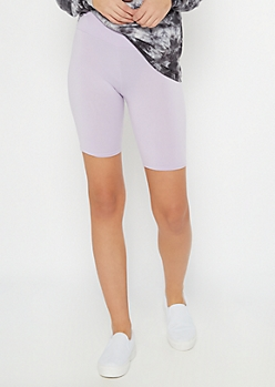 Lavender Super Soft Bike Shorts