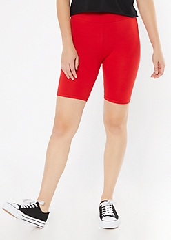 Red Essential Bike Shorts