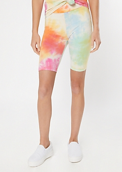 Rainbow Tie Dye Super Soft Bike Shorts
