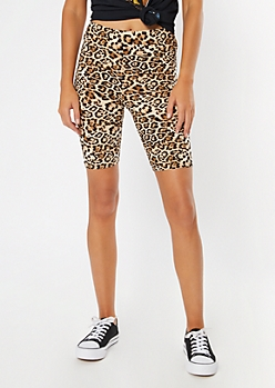Leopard Print Super Soft Bike Shorts