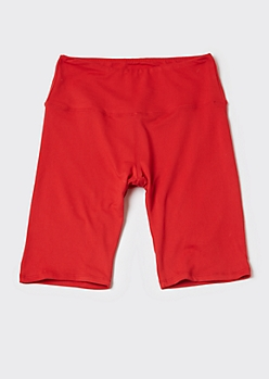 Red Super Soft Bike Shorts