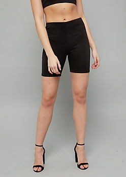 Black High Waisted Bike Shorts