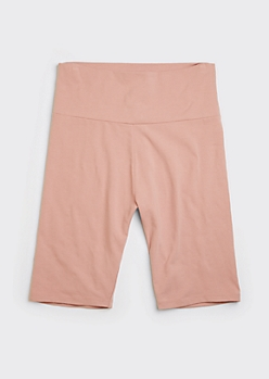 Pink Cotton Bike Shorts
