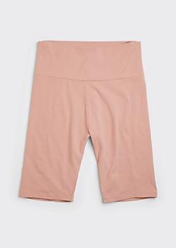 Pink Cotton Bike Shorts