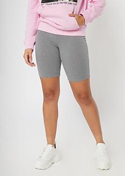 Heather Gray Super Soft Bike Shorts