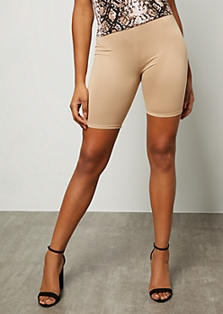 Nude Super Soft Mid Rise Bike Shorts