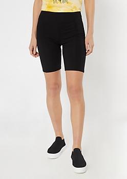 Black Cellphone Pocket Bike Shorts