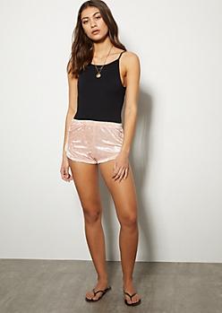 Pink Velvet Dolphin Shorts