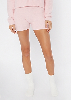 Pink Cozy Teddy Shorts