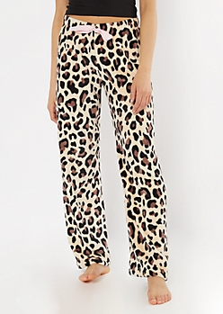Cheetah Print Plush Sleep Pants
