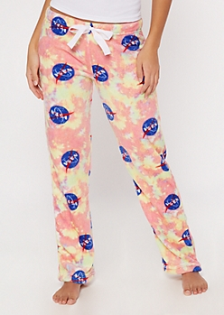 Pink Tie Dye NASA Plush Sleep Pants