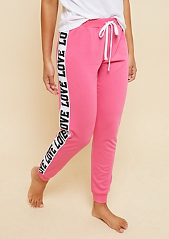 Pink Love Knit Joggers
