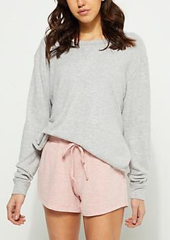 Gray Hacci Knit Sweatshirt