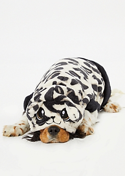 Black Weed Print Plush Pet Onesie