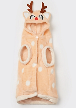Reindeer Plush Pet Onesie