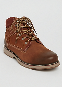 Brown Leather Hiking Boots