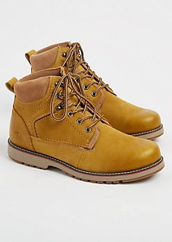 Tan Leather Hiking Boots