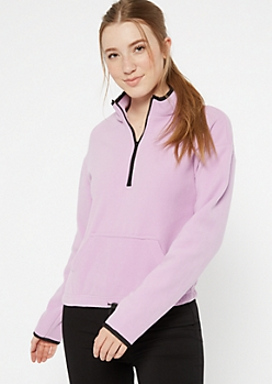 Lavender Half Zip Polar Fleece Pullover