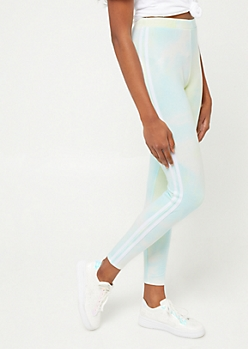Light Blue Tie Dye Varsity Leggings