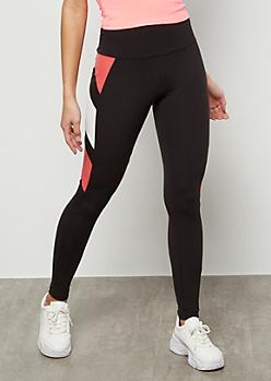 Pink Diagonal Side Striped Super Soft Leggings