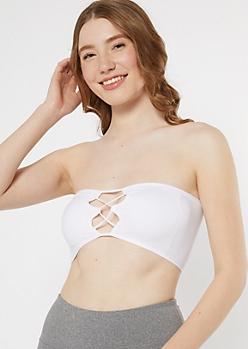 White Lattice Front Bandeau