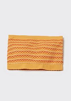 Gold Jacquard Knit Bandeau Bra