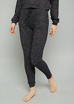 Black Hacci High Waisted Joggers