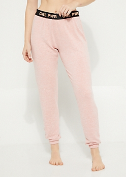 Pink Hacci Knit Jogger