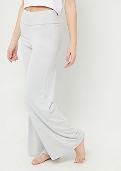 Light Gray Wide Leg Sleep Pants