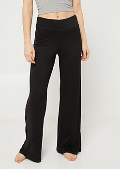 Black Wide Leg Sleep Pants