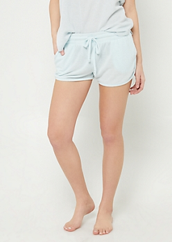 Light Blue Cozy Dolphin Shorts