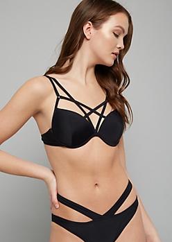 5a0c1419cec29 Black Mesh High Neck Push Up Bikini Top | Push-Up Bikinis | rue21