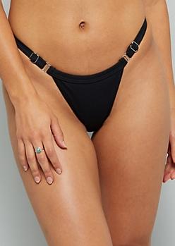 Black High Cut Bikini Bottoms