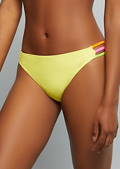Yellow Caged Side Bikini Bottoms