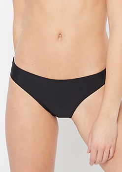 Black Full Coverage Bikini Bottoms
