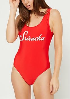 Red Sriracha Swimsuit