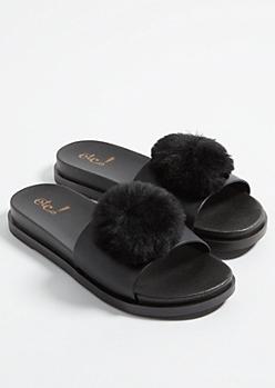 Black Pom Slides