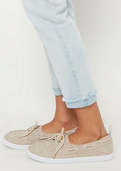 Nude Marled Boat Shoes