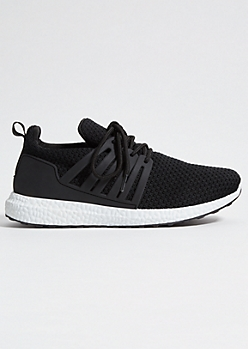 Black Knit Caged Trainers