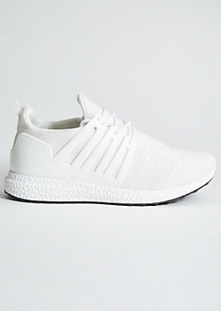 White Space Dye Jersey Knit Sneakers