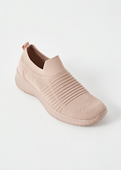 Pink Lightweight Slip On Trainers