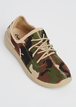 Camo Knit Low Top Trainers