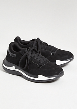 Black Reflective Dad Sneakers