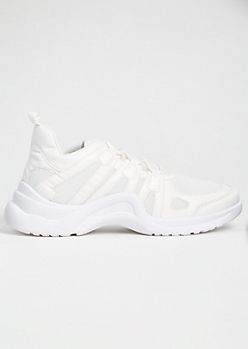 White Mesh Arch Dad Sneakers