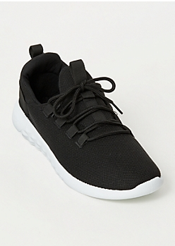 Black Low Top Lace Up Trainers
