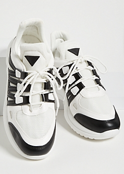 Black Triangle Dad Sneakers