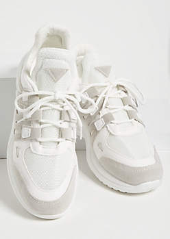 Gray Triangle Dad Sneakers